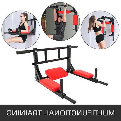Pull Up Station Multi-Sports Mounted Fitness Gym Chin