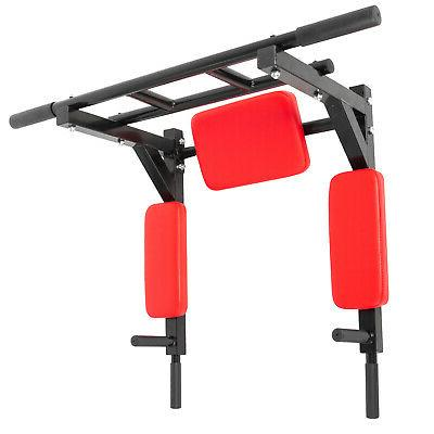 Pull Up Station Mounted Fitness Power Gym Chin