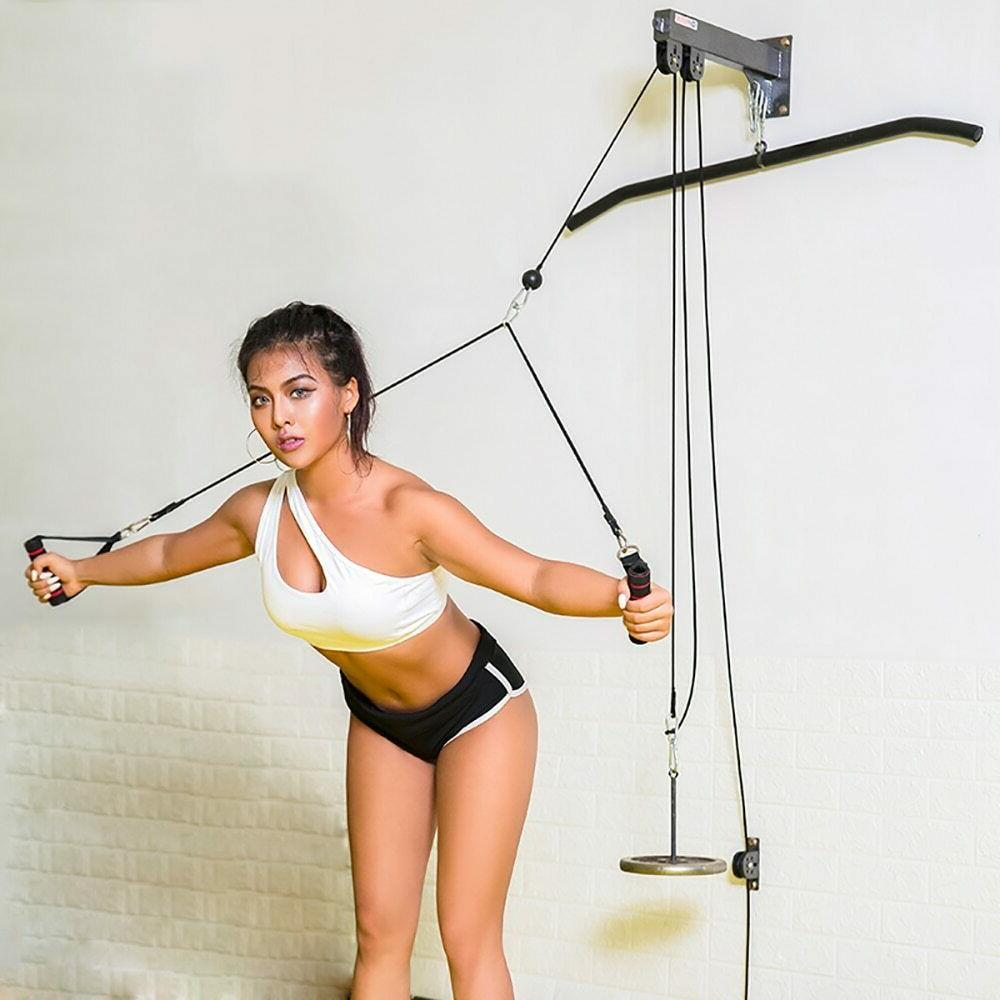 pulley cable home gym accessories strength training