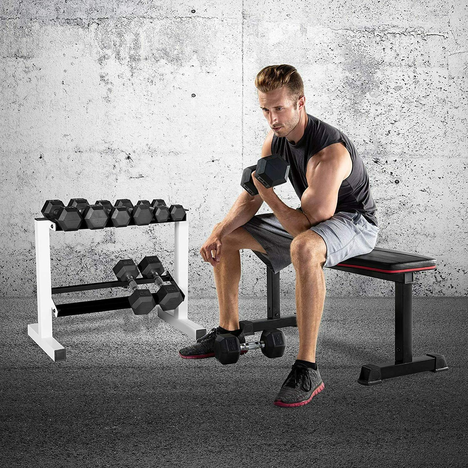 "24"" Two Rack Compact Gym Fitness"