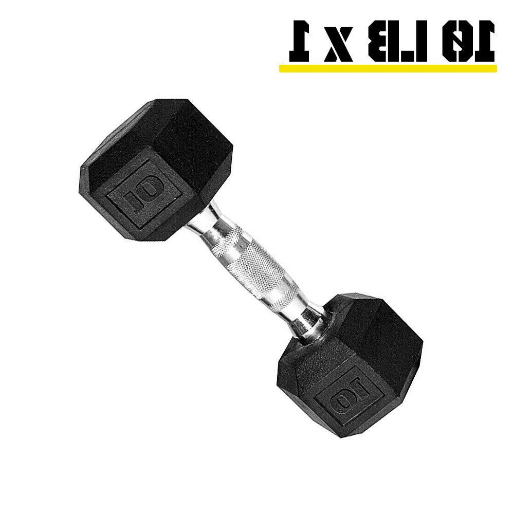 Rubber Hex Free Weights Cast Strength Training