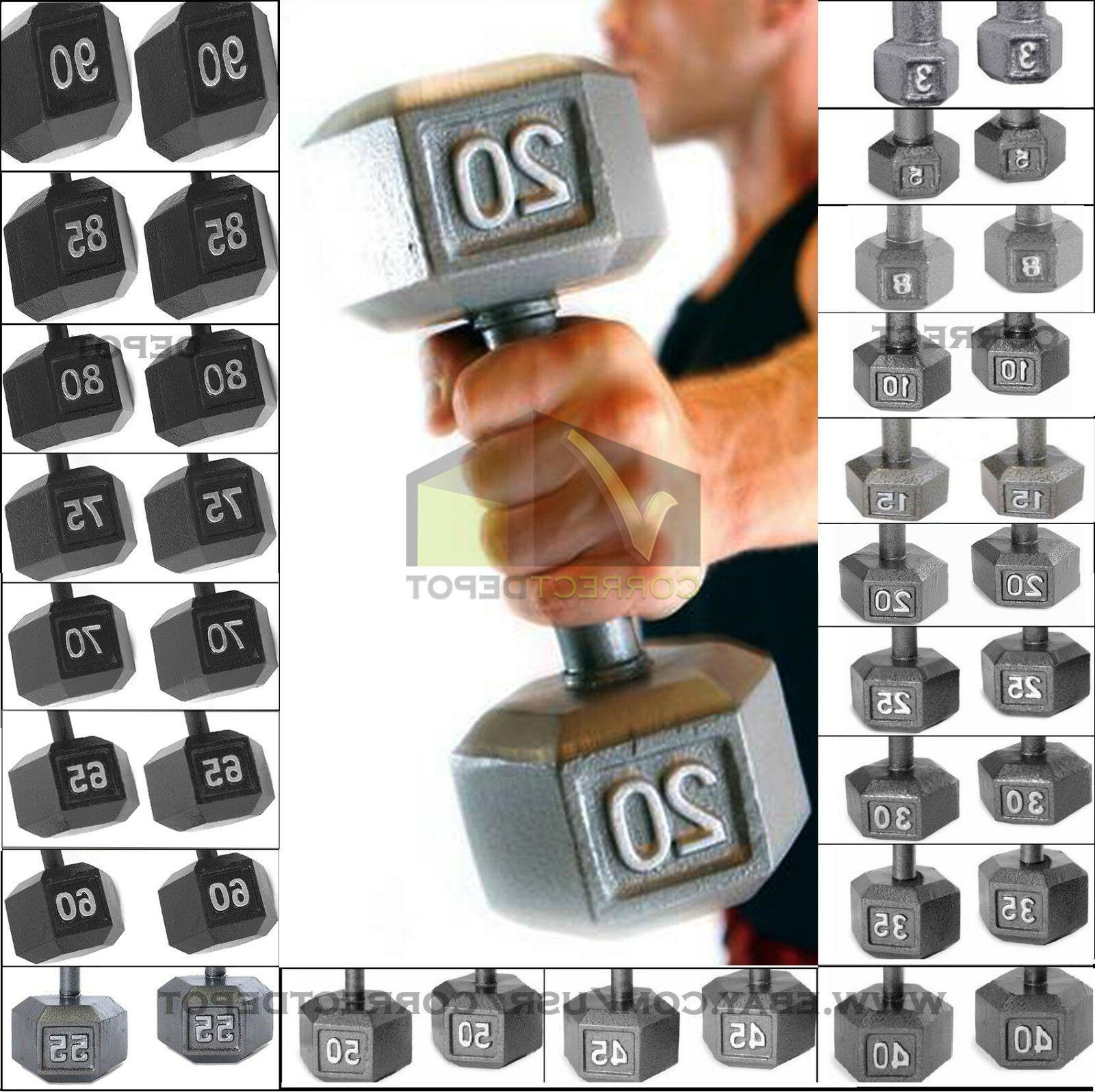 SET IRON DUMBBELLS Home Gym Workout Weights