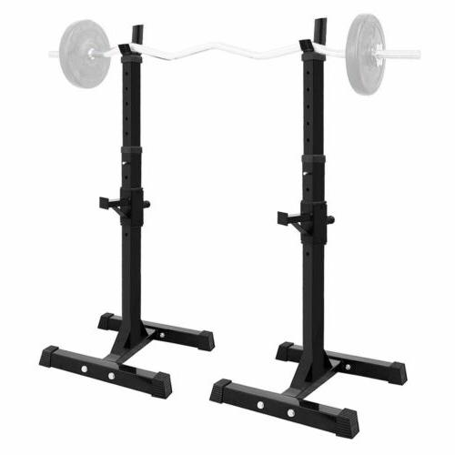 Adjustable Rack Weight Lifting Stand Home Gym