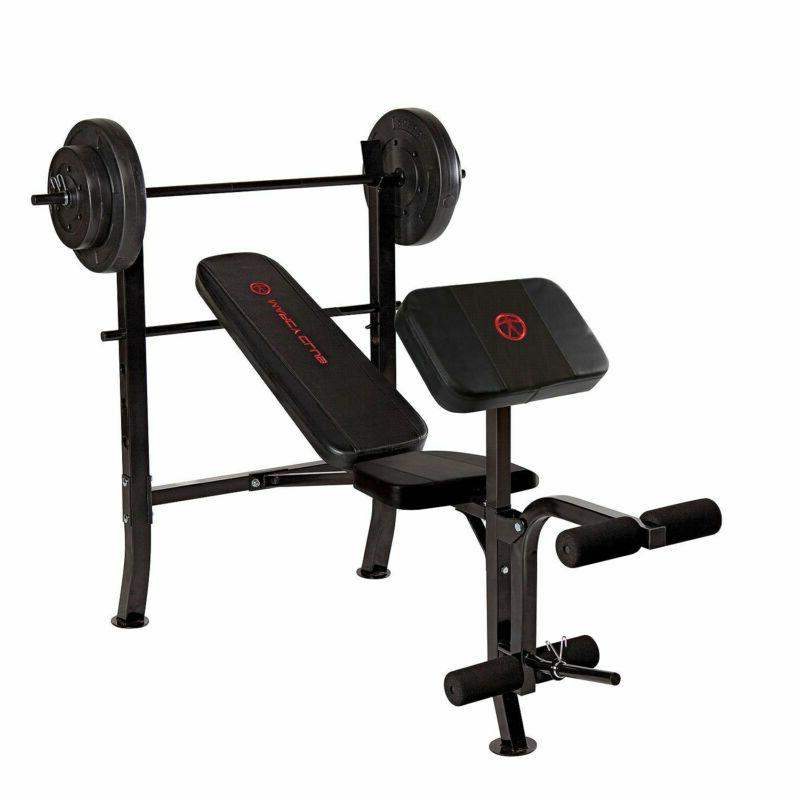 standard weight bench with 80 lb set