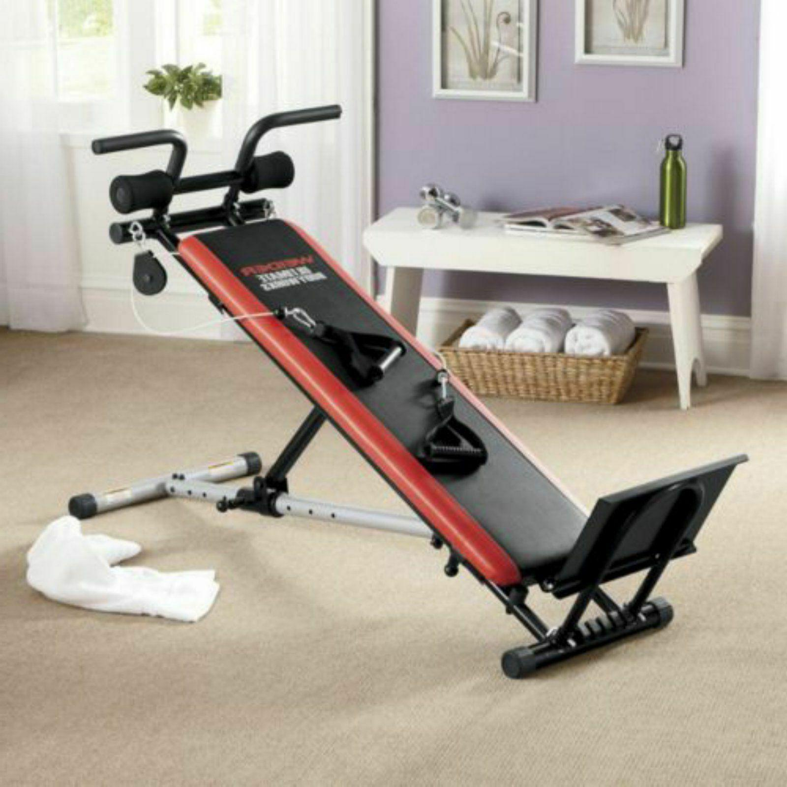 total gym adjustable folding exercise fitness workout