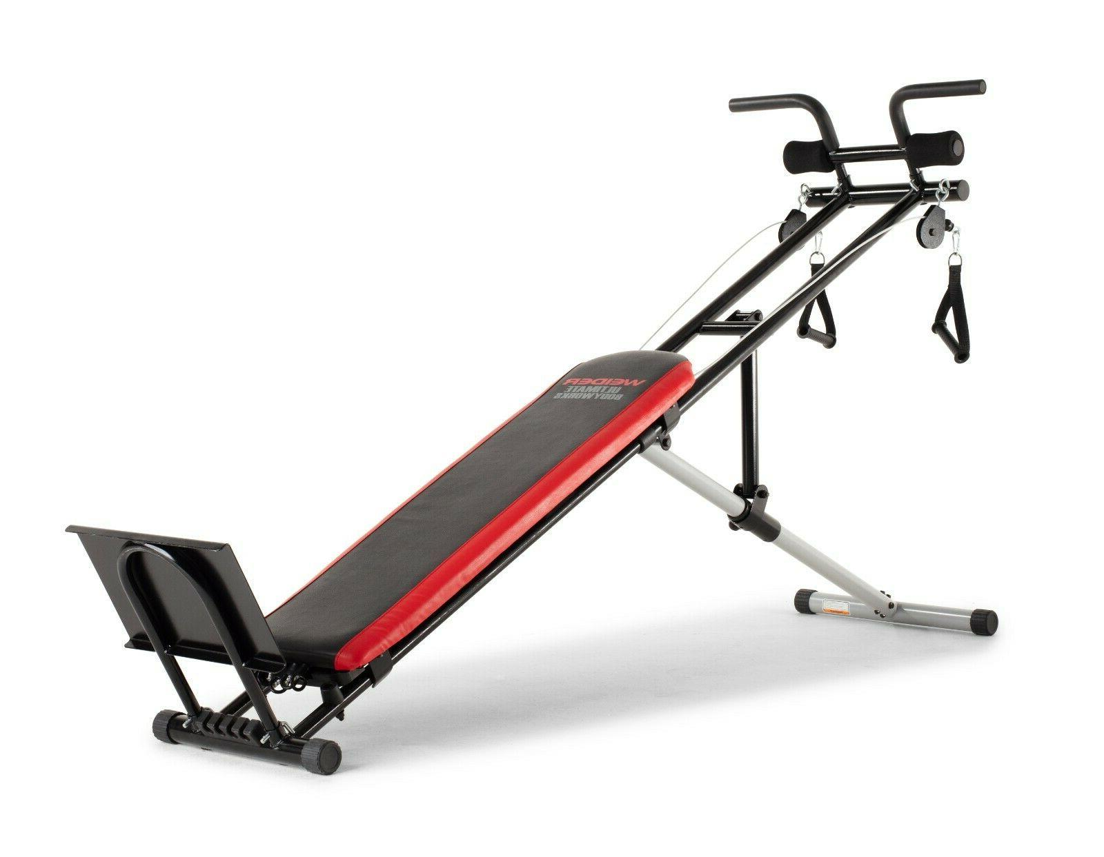ultimate body works bench w workout guide