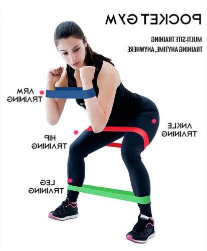 Resistance Bands Gym Yoga Stretch Training Elastic Band
