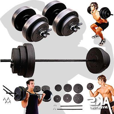 weight sets 140lbs barbell dumbells home gym
