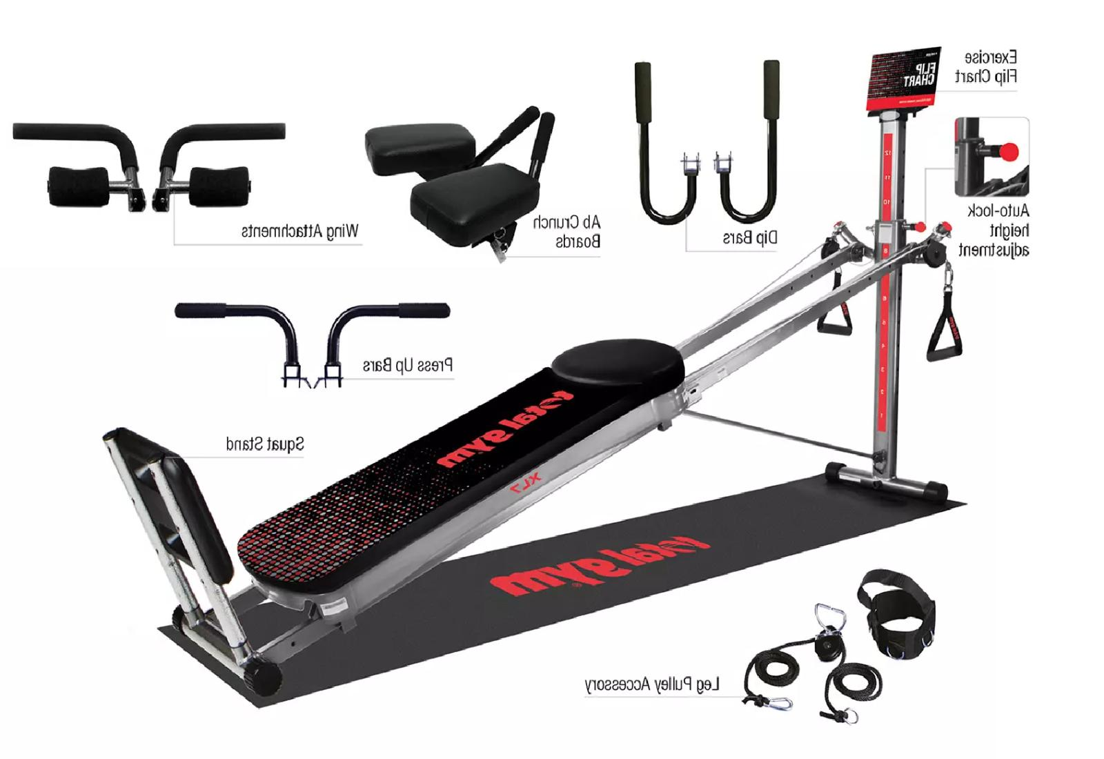 xl7 home gym with workout dvds new