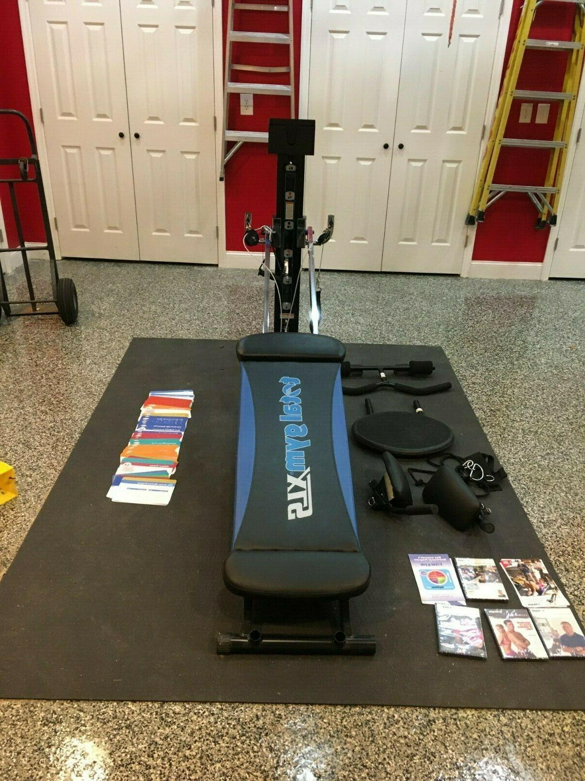 xls home gym with accessories