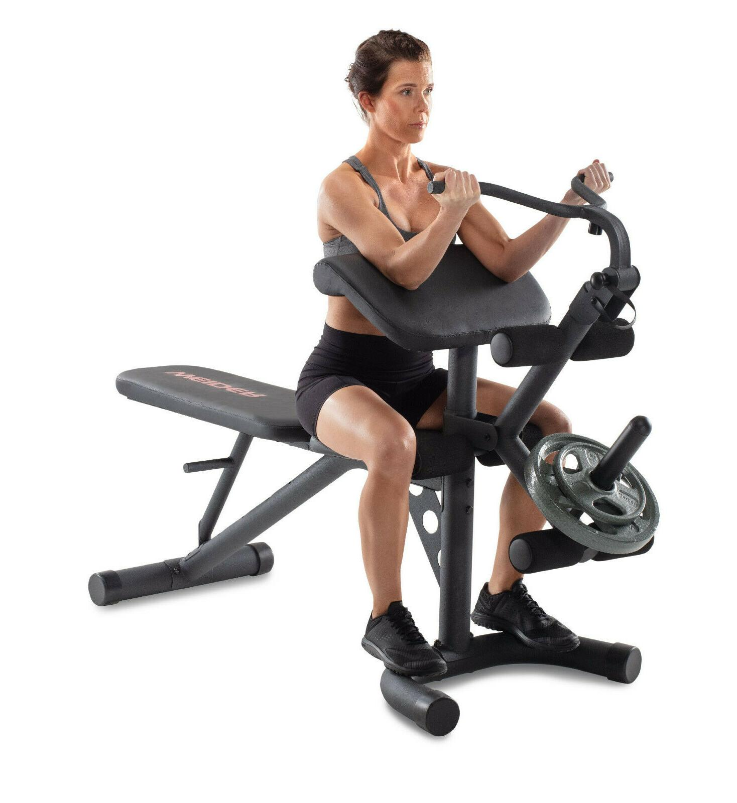 XRS 20 Olympic Workout Bench w/Removable Preacher Pad & Inte
