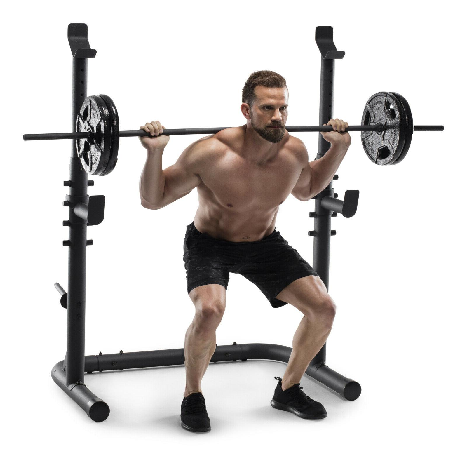 Weider 20 Olympic Workout with Squat Pad