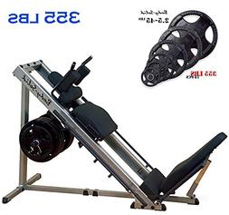Body-Solid Leg Press and Hack Squat Machine  with Rubber Gri