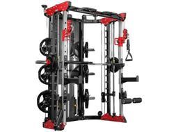 Smith Machine w/ 400lbs Weight Stack Counterbalance Smith Ba