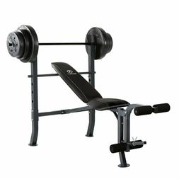 Marcy Diamond Weight Bench with 100 lb. Weight Set