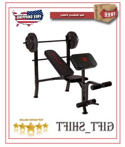 Marcy Standard Weight Bench with 80-lb. Weight Set =FREE SHI