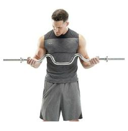"""MARCY TRICEPS & BICEPS COMBO CURL BAR Standard 1"""" Plates"""