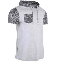 Men's Cotton T-Shirt Blank Athletic Gym Slim Fit Tops Classi