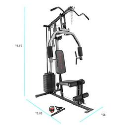 Marcy 100Lb. Stack Home Gym with Pulley, Press Arm, and Leg