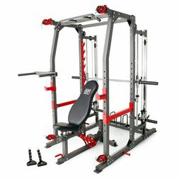 Multi Function Smith Machine Cage Workout System Home Gym Tr