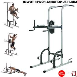 Multi-Functional Power Tower For Home Gym Dip Station Chin U