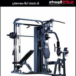 multifunctional home gym with smith machine cable