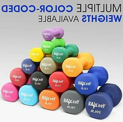 Yes4All Neoprene Coated Dumbbell 2 lbs Pair Fitness Hand Exe