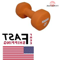 Neoprene Dumbbell 15 lb. Crossfit p90x Home Gym Compact Size