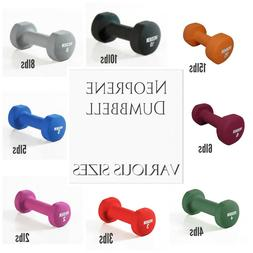 Weider Neoprene Dumbbell Weights Tone Exercise Home Gym 2 3