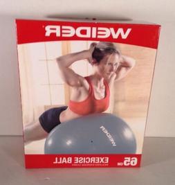 New Weider Balance Ball Workout Kit 65cm Exercise Ball inclu