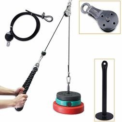 NEW Fitness Pulley Cable System Lifting Triceps Rope Machine