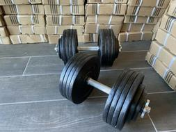 New Fully Adjustable Dumbbells Pair 100lbs per Dumbbell 200l