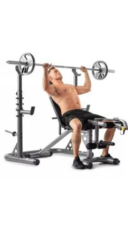 NEW Golds Gym XRS20 with Squat Rack Weight Lifting Bench Pre