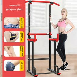 NEW Knee Raise Power Tower Chin Up Push Pull Dip Gym Station