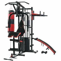 NEW! Ultimate Pro Home Gym System Adjustable Weight Stack Ma