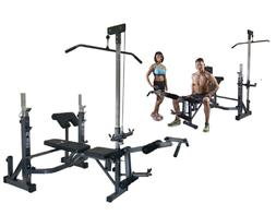Olympic Bench Adjustable Gym Weight Workout Set Home Lifting