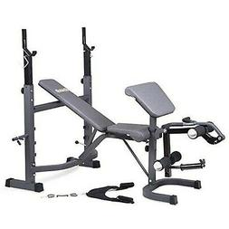 Body Champ Olympic Weight Bench with Preacher Curl, Leg Deve