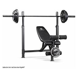 Olympic Weight Bench With Rack Adjustable Workout Training W