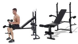 Olympic Gym Bench Total Body Workout Set Home Fitness Exerci