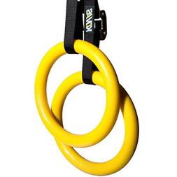 Olympic Gymnastic Rings With Adjustable Straps - Fitness Equ