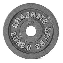 CAP Barbell Olympic 2-Inch Weight Plate, Gray 35 LBS , Singl