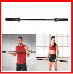 Olympic Weight Bar 5 Ft Home Gym 2-Inch Solid Steel ECO BLAC