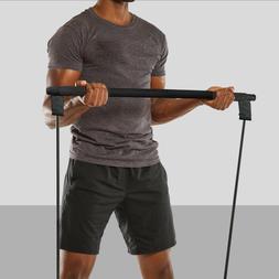 Pilates Bar Yoga Exercise Resistance Leg Band Portable Home