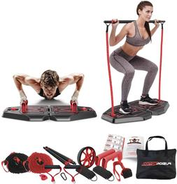 Portable Home Gym Exercise Equipment + Heavy Resistance Band