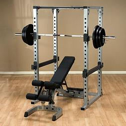 Body Solid GPR378 Power Rack with Heavy GFID71 Bench, 300lb.