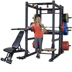 Body-Solid Power Rack SPR1000 and the rear Rack Extension wi