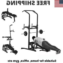 Power Tower Exercise Pullup Weight Machine Adjustable Home G