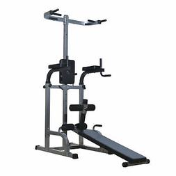 "Soozier 80"" Full Body Power Tower Home Gym Fitness Station w"