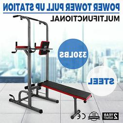 Power Tower Multi-Station Push Pull Up Chin Dip Bar Exercise