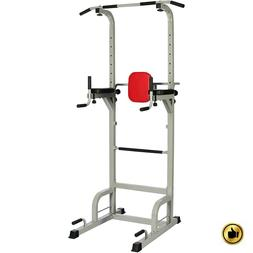 Power Tower Pull Up Dip Station Workout Home Gym Equipment T